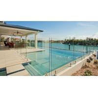 Quality Stainless steel swimming pool spigot glass railing with SGCC & CE certificate for sale