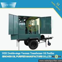 Best Quality used transformer oil filter machine, improve oil dielectric strength, connect with transformer,mobile type for sale