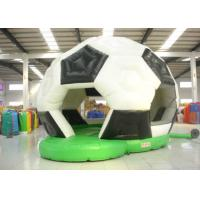 Quality Football Design Bounce Round Bounce House , Soft Inside Bounce House Fire Resistance for sale