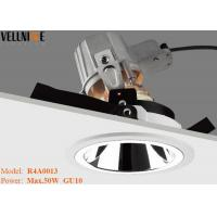 China Adjust Mirror Reflector Led Recessed Downlights Horizontally GU10 Lamp Holder on sale