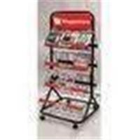 Quality Wire Two sided Postcard Magazine Display Racks Stands with 8 wire shelves for exhibit for sale