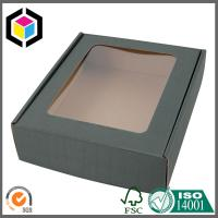 Quality E Flute Corrugated Carton Shipping Box with Clear Plastic Window Custom Color Print for sale