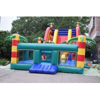 Quality Giant Inflatable Palm Tree Slides / Inflatable Combo With Safety Rail Protection Network for sale