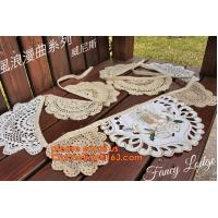 Quality 11pcs Burlap Lace Banner Bunting Jute Rustic Wedding Banner, Sweetheart Table Bunting banner Wedding love sign lace mate for sale