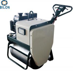 China Single Drum Road Roller Machine 5.2KW Walk Behind With Diesel / Gasoline Fuel on sale