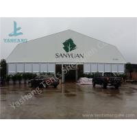 Quality Double Pitch High Pressed Aluminum Framed Tent Solid ABS Wall Clear Glass Door 20M X 40M for sale