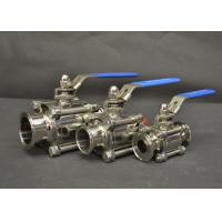 AISI 304 316L Sanitary Tri Clamp Ball Valves With Full Port Ends , Manual Type for sale
