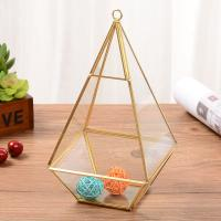 China Clear Vase Hanging Geometric Glass Terrarium for Air Plant Flowerpot for sale