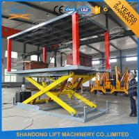 Quality Portable Double Deck Car Parking System 2 Sets Control System Easy Operation for sale