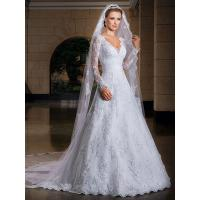 Quality NEW!!! Long sleeves Aline wedding dress Lace Bridal gown #14077bn37 for sale