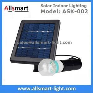 Quality 2000mAH Li-ion Battery 20led Single Bulb Solar Powered Indoor Lighting DC System Solar Home Kits Yard Emergency Lamp for sale