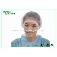 Quality White / Green PP Disposable Mob Caps Soft Disposable Surgeon Caps for sale