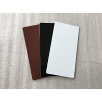 Quality Black Aluminum Sign Panels / Weatherproof Sign Material With Color Uniformity for sale