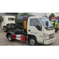 New foton forland 2 tons capacity hook loader hydraulic arm mini collection small roll off garbage truck for sale for sale