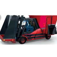Quality Automatic Tractor Feed Mixer , Tractor Pulling And Loading Feed Cart With Auger for sale