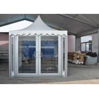 China 3 X 3m White PVC Party Pavilion Tent , Outside Gazebo Tent With Glass Wall Windows for sale