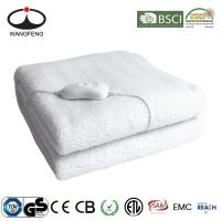 China 220V-240V Polyester Washable Single double size Electric Blanket With CE CB GS Rohs EMC Certificate Approval on sale