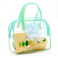 Quality Bright Printing Plastic Tote Bags , Clear PVC Reusable Tote Bags For Household Bathrooms for sale