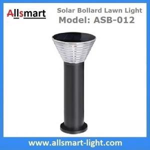 Quality 60cm/24inch Solar Bollard Lawn Lights Solar Yard Light Cement Bollard Solar Pathway Lamp Aluminum Black for Landscape for sale