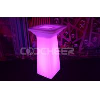 China Wireless Led Cocktail Table  DMX Remote , Fireproof Led Bar Table on sale