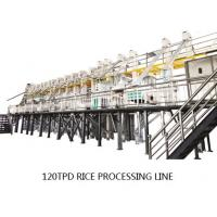 Compact Structure Rice Mill Machine 120 Ton Per Day Production Capacity