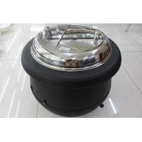 Quality Black Color Electric Soup Warmer 10ltr W/ Stainless Steel Cover Single Phase 220V Volts Adjustable Temperature Knob for sale