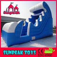 China WL-1830 Curve Snow Inflatable Pool Water Slide on sale