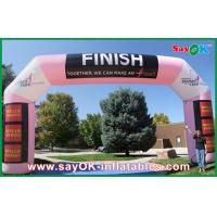 Quality Pink Color Inflatable Finish Inflatable Arch With Logo Printing for sale