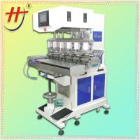China Hengjin precision 6 color shuttle ink cup electric pad printing machine on sale