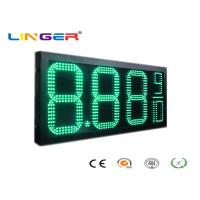 Quality Factory Directly Sale Led Gas Price Sign in Green Color with 12inch Digits for Double Sides for sale