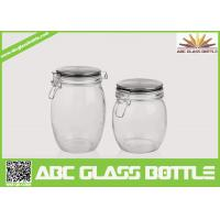Quality Wholesale glass jars with rubber seal lids for sale