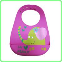Quality Waterproof Durable Silicone Baby Bibs Easy To Wipe Clean Customized Color for sale