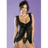 Buy cheap U.S. and European factory direct supply sexy lingerie large size XL special size sleepwear lace M,XL XQ2009black from wholesalers
