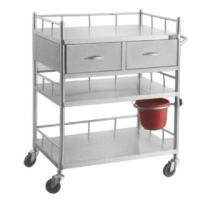 Quality Antimicrobial Stainless Steel Medical Trolley Mobile Utility Carts With Drawers for sale