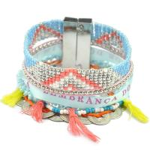 China Brazil Jewelry Magent Mix Beads Bracelet Women Pulsera Hipanema Bracelets Charming Bangles on sale
