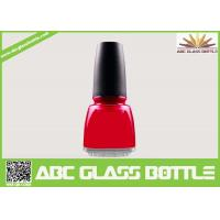 Buy 12ml square empty glass nail polish bottles with caps and brush at wholesale prices