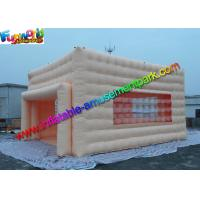 China Amzing Inflatable Party Tent Clear Window Marquees With Bottom Cloth on sale