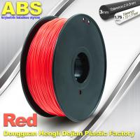 Quality 1.75mm /  3.0mm ABS 3d Printer Filament Red With Good Elasticity for sale