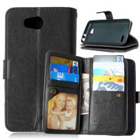 LG L70 L90 K7 K8 K10 Zone 3 Wallet Case Retro Leather Cover Bags Pouch 9 Cards Slot Holder