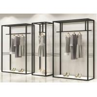 Buy cheap Iron Plating Black Wall Display Garment Display Stands With Height 2.2 Meter from wholesalers