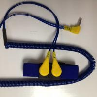 Quality ESD Dual Coiled Cord Elastic Wrist Strap for sale