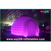 Quality Advertising Dome Inflatable Air Tent , Led Light Inflatable Lawn Tent for sale