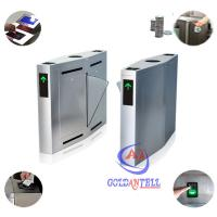 Quality RFID Reader Security Full Auto Entrance Turnstiles High Speed Gate Systems Barcode Control for sale