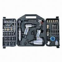 Quality Air tool kit, includes 1/2 inch impact and 3/8 inch ratchet wrench, CE certified for sale