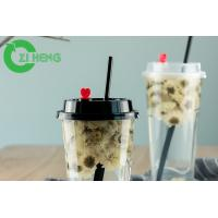 Quality 24 Oz Personalized Disposable Plastic Cups With Lids Crack Resistance For Hotel for sale