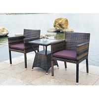 Quality Bistro outdoor furniture wicker table and chair for sale