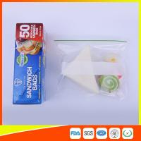 Quality Multi Size Ziplock Plastic Bags For Food Storage , Zip Sandwich Bags OEM Acceptable for sale