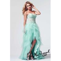 China Green / Pink Lace Applique Tulle Short Long Homecoming Evening Dress on sale