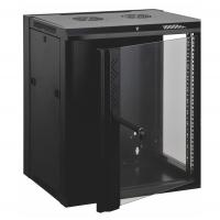 Quality 12u Wall Mount Data Cabinet Wall Network Cabinet Customized Logo Door Design for sale