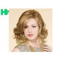 Quality Blond High Temperature Fiber Side Part Wave Synthetic Hair Wigs For Women for sale